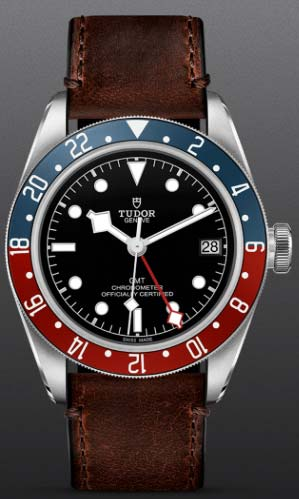 "NEW Tudor Black Bay GMT on a ""TERRA DI SIENA"" BROWN LEATHER STRAP"